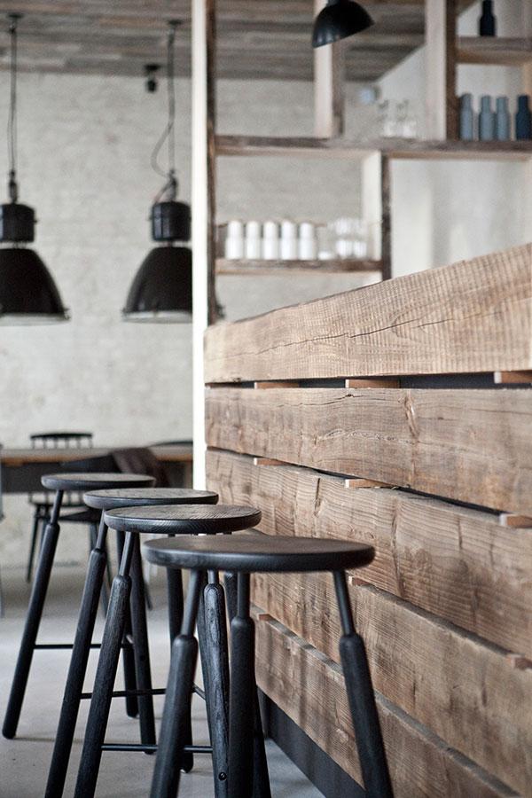 Host restaurant rustic scandinavian interior minimalism for Nordic design shop