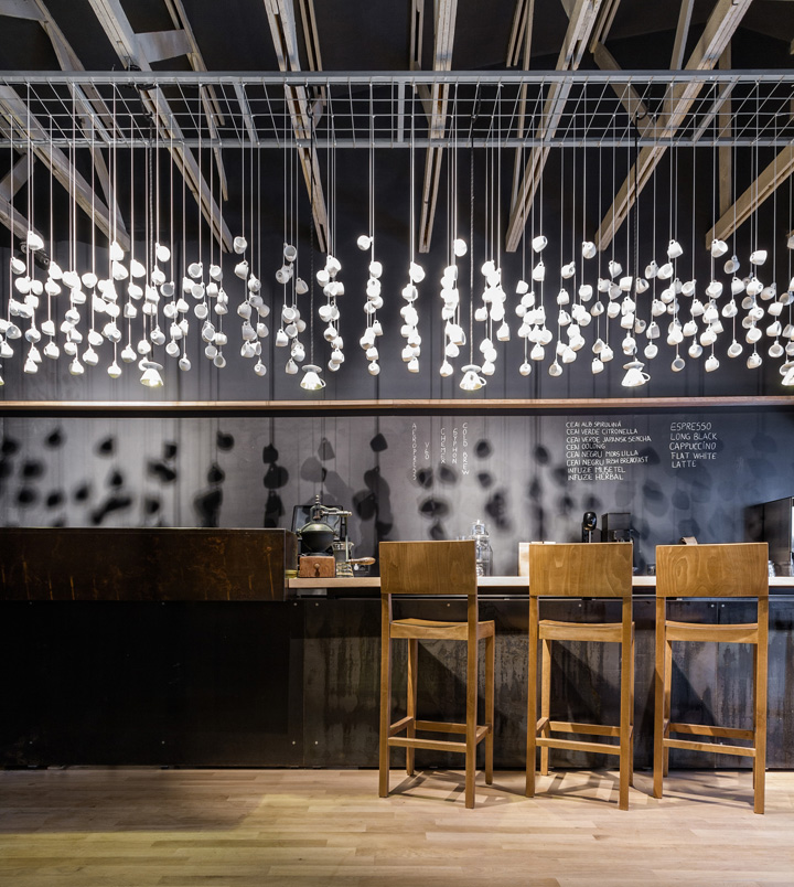 Wood vs metal origo coffee shop design design visual - The house of clicks the visual experiment of swedish architects ...