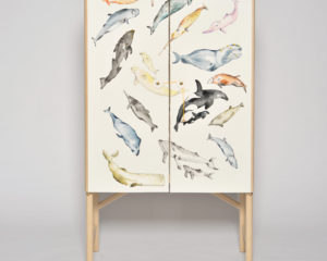 THE WHALE CABINET WITH HAND PAINTED WHALES BY DAVID ERICSSON
