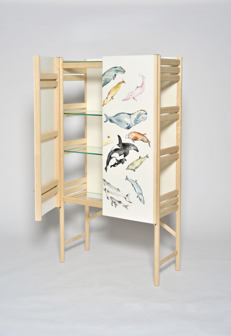 The Whale Cabinet with hand painted whales by David Ericsson The Tønder Collection (3)