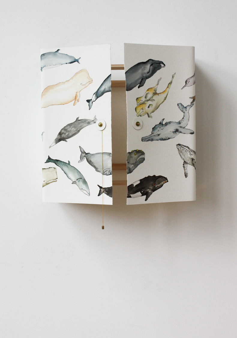 The Whale Cabinet with hand painted whales by David Ericsson The Tønder Collection (5)