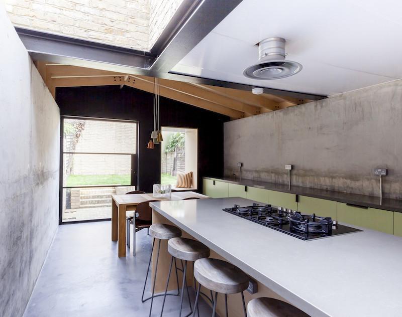 Concrete, plywood, metal, stone contemporary home by Simon Astridge (2)