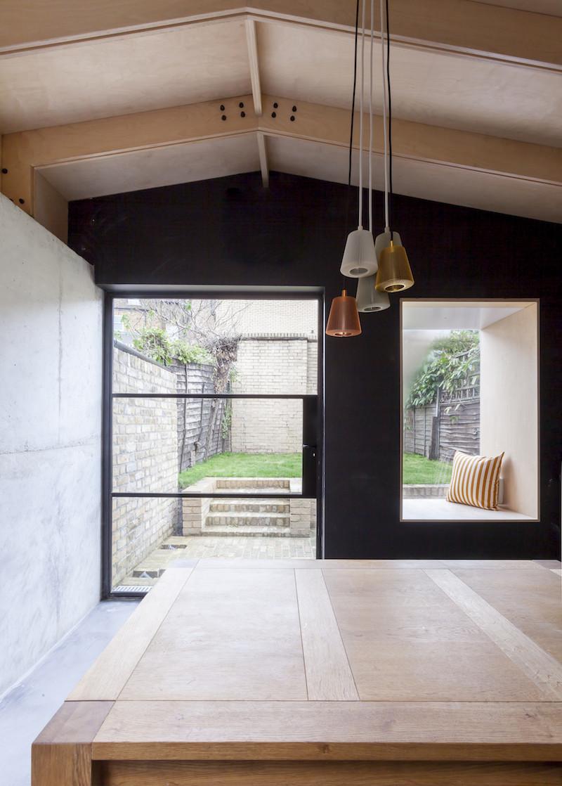 Concrete, plywood, metal, stone contemporary home by Simon Astridge (3)