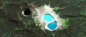 Three Striking Crater Lakes of Varying Colors