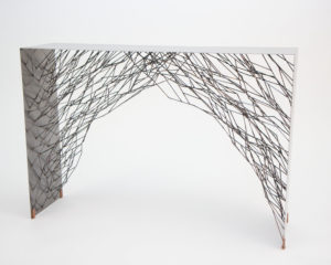 THIN LONG STEEL TABLE BY OTIS AND OTIS