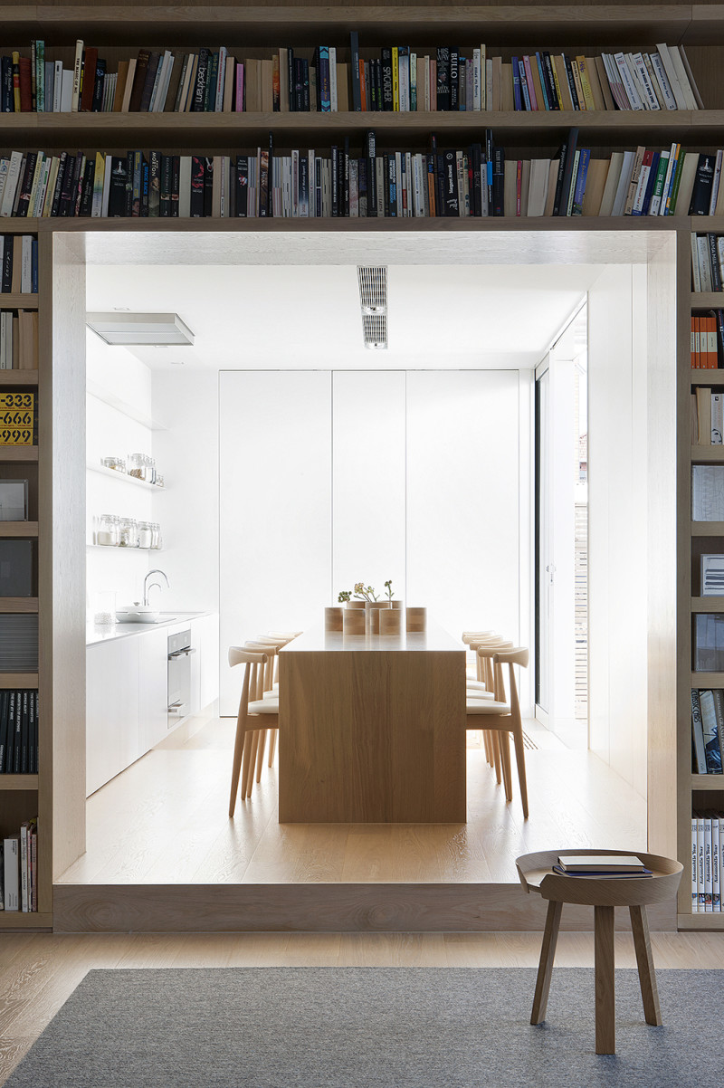 Pale Timber Interior Design, White Interior Design, Studio Four, Alfred Street Residence, Australia (10)