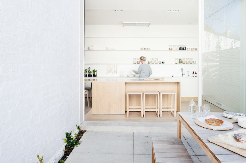 Pale Timber Interior Design, White Interior Design, Studio Four, Alfred Street Residence, Australia (2)