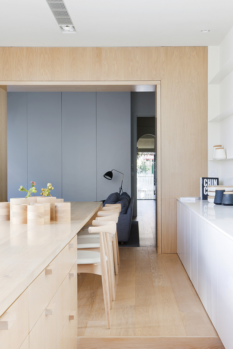 Pale Timber Interior Design, White Interior Design, Studio Four, Alfred Street Residence, Australia (3)