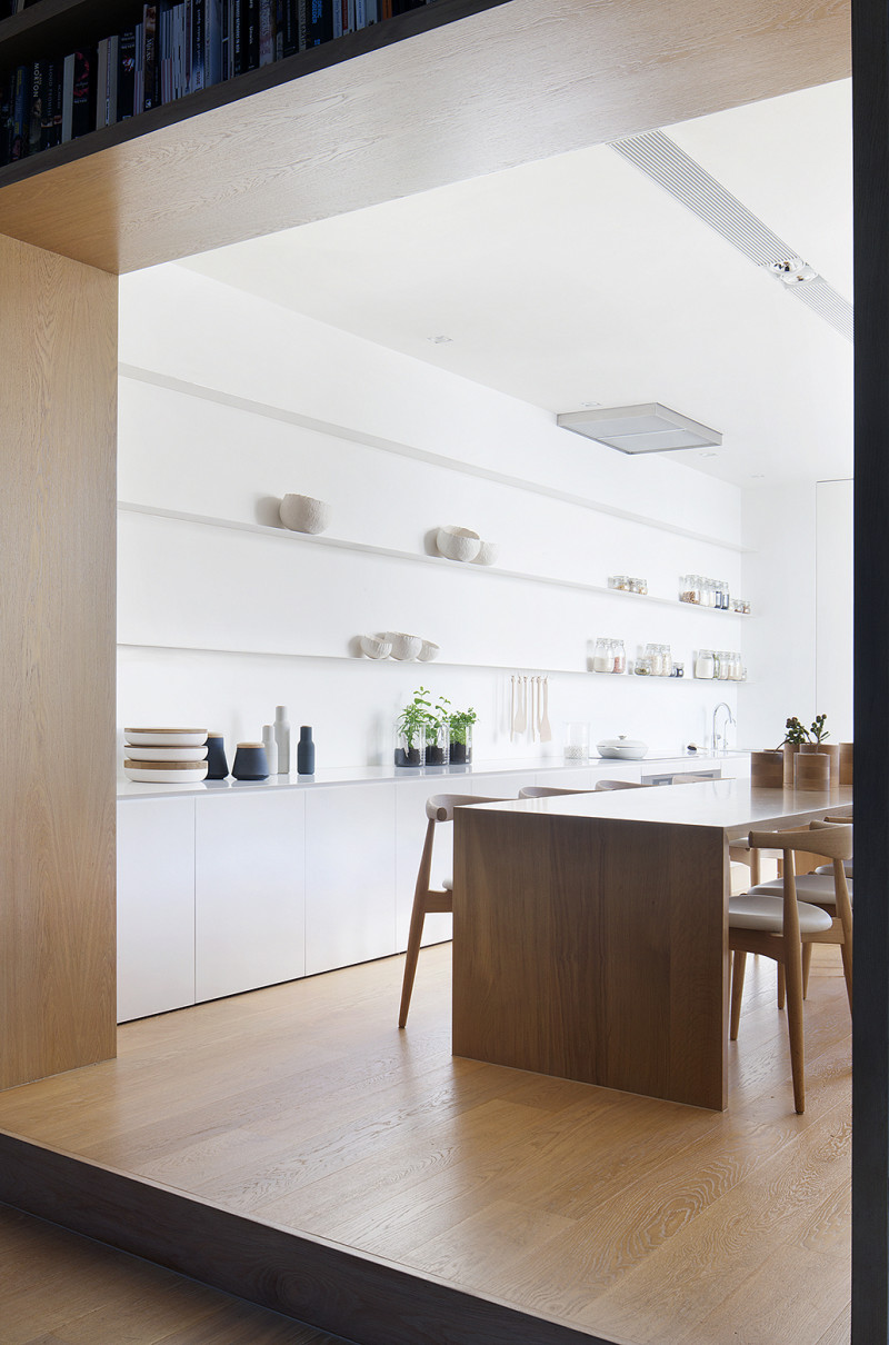 Pale Timber Interior Design, White Interior Design, Studio Four, Alfred Street Residence, Australia (9)
