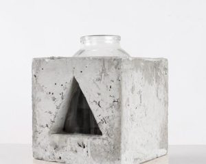 THE INVARIANTS: CONCRETE, WOOD & GLASS VASES BY MAKHNO STUDIO