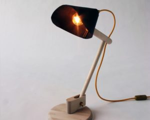 LEATHER + WOOD + LINEN: CARL MALMSTEN MADE ME DO IT LAMP