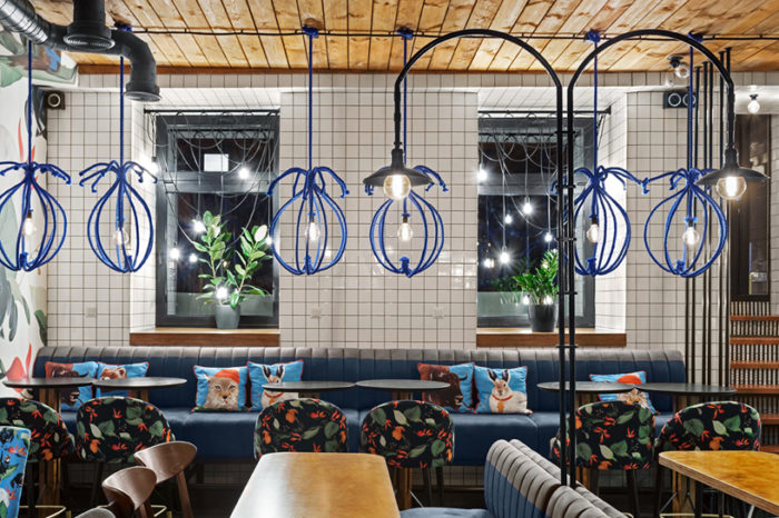 The Blue Cup Coffee Shop By Kley Design Studio Kiev Ukraine (4)