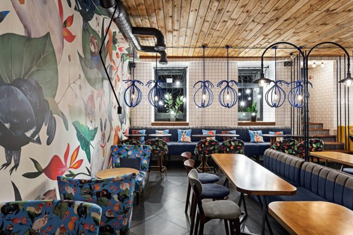 The Blue Cup Coffee Shop By Kley Design Studio Kiev Ukraine (5)