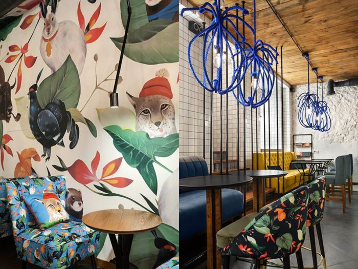 The Blue Cup Coffee Shop By Kley Design Studio Kiev Ukraine (7)
