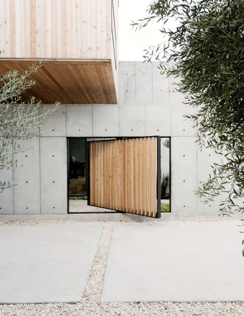 Concrete X Wooden Home By Robertson Design Design Visual