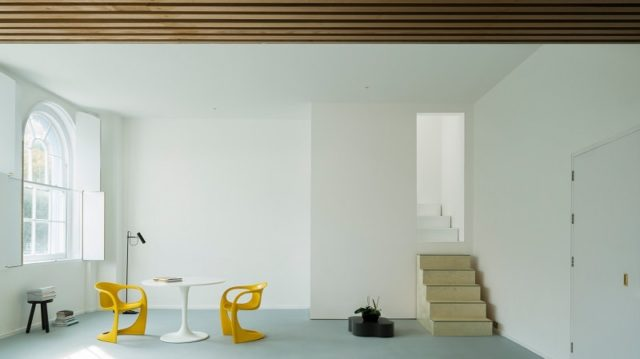 Minimalist plywood interior by west architecture london for Minimalist house london