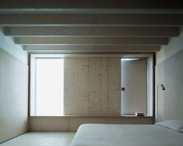 Minimalist Plywood Bedroom Interior