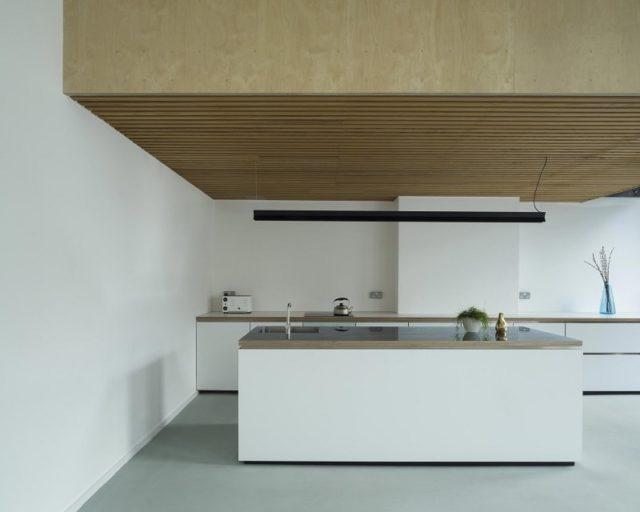 Minimalist Plywood Kitchen Interior