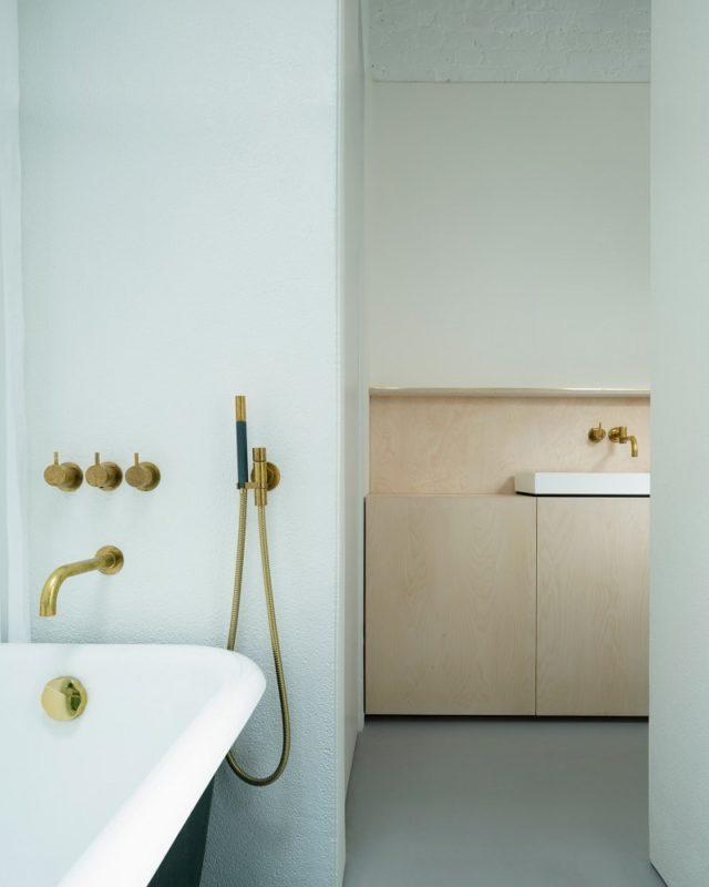 Minimalist Plywood Batroom Interior