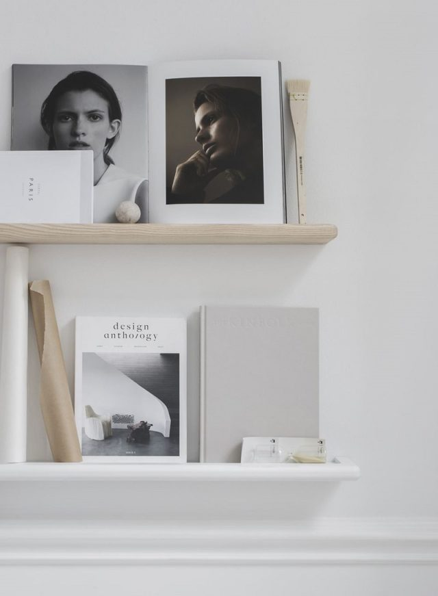 Minimalist Magazine Shelf Natural Ash