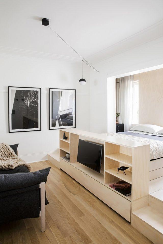 Bedroom Interior Design Nano Pad Studio Apartment By Architect Prineas, Sydney, Australia
