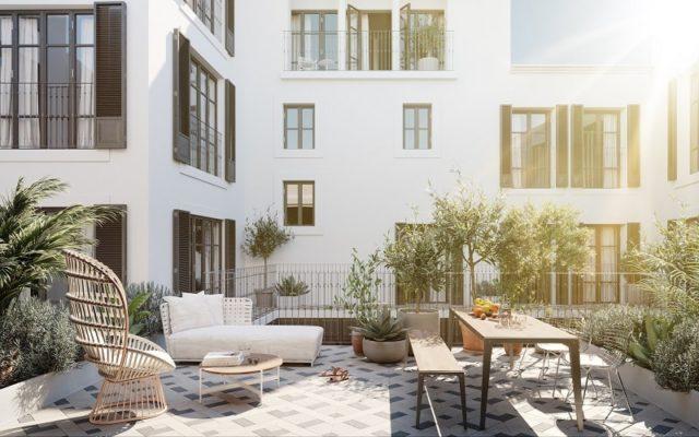 Impremta Garden Palma Mallorca Terrace Scandinavian Functionalism