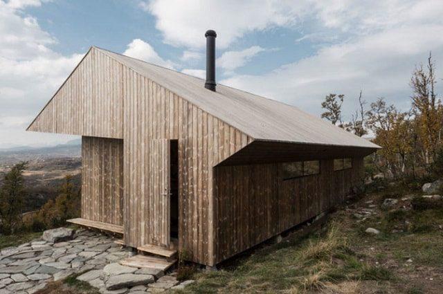 Wooden Cabin Ustaoset Designed by Jon Danielsen Aarhus, Norway