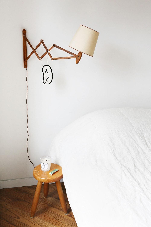 Bedroom wall lamp from Orange Furniture - Loft Apartment, Lower East Side, Manhattan, New York
