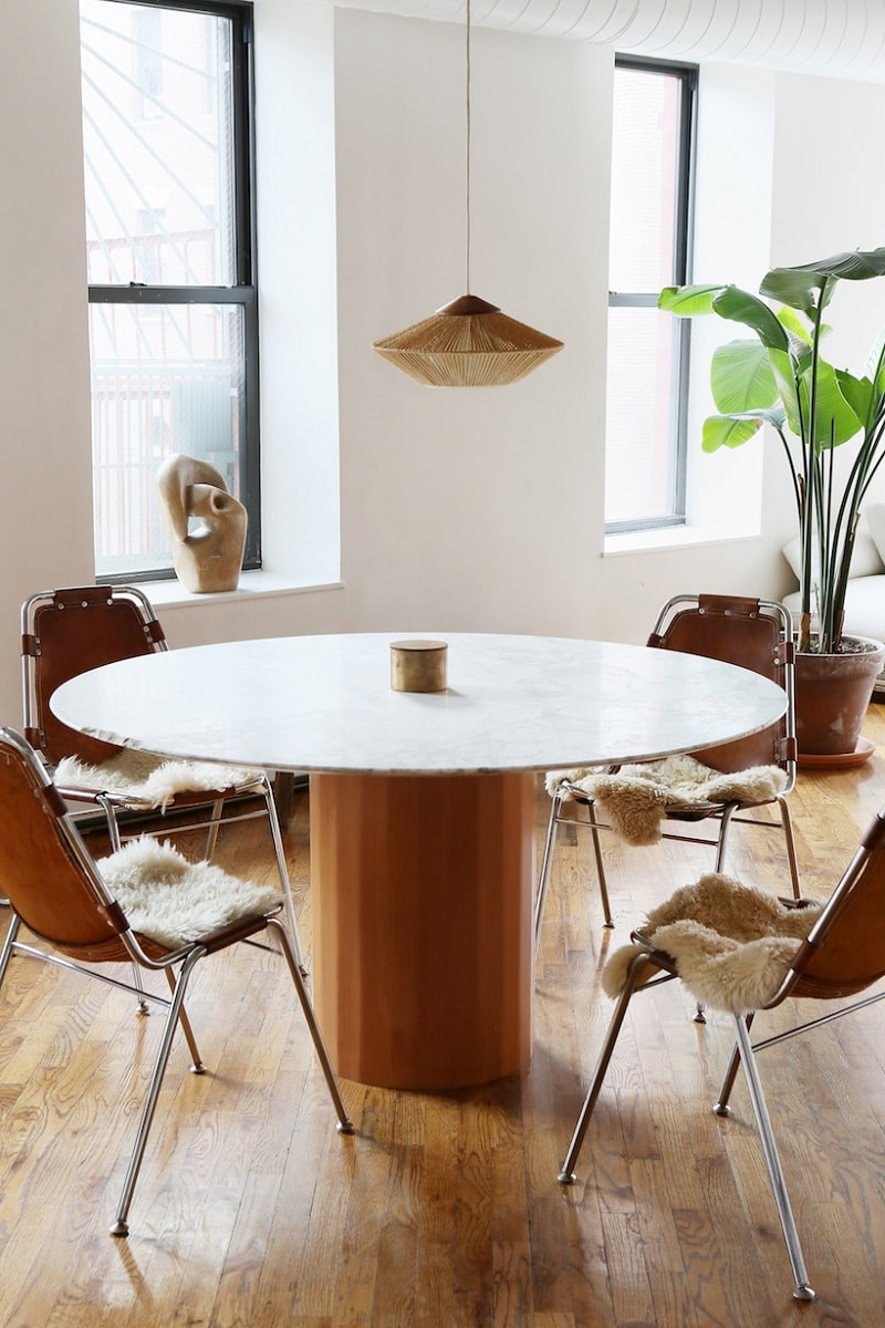 Charlotte Perriand Dining Chairs - Loft Apartment, Lower East Side