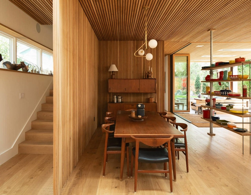 Open Plan Timber Kitchen & Dining Area Design